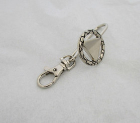 Circle Triangle Key Chain