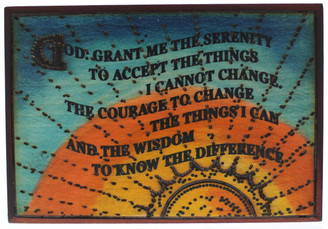 Serenity Prayer Box - Sunset