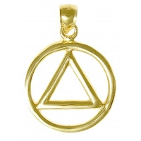 14k Gold Heavy Wire Style Pendant