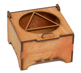Circle Triangle Wooden Box