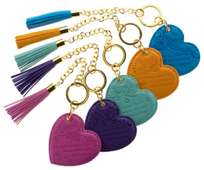 Tasseled Heart Keytag