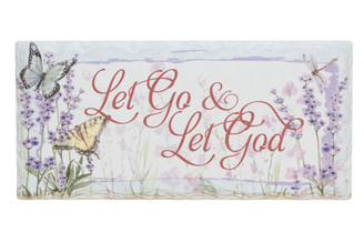Let Go & Let God Plaque