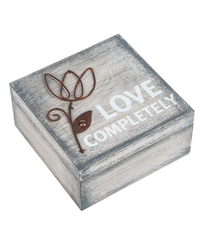 Put all your God letters, love letter, recovery medallions, jewelry, hopes and dreams in this lovely wood God box.