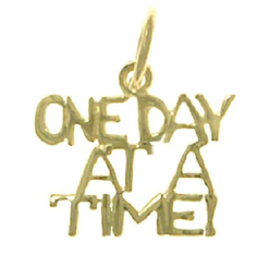 ONE DAY AT A TIME 14K PENDANT