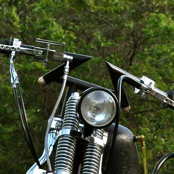 Motorcycle Handlebars Closeup On Bike