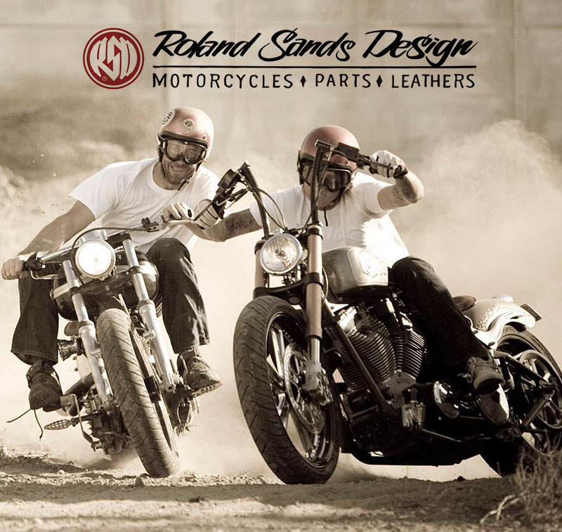 Roland Sands Design riders plow through a turn