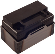 Deka Motorcycle Battery Box for ETX12, ETX14 - Belt Style - Blank - FLAT or WELDED - MADE IN THE USA - Harley Chopper Bobber Cafe Racer