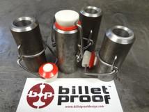 Oil Bag Tank Filler Neck with Grolsch Style Ceramic Clasp Cap - Custom Harley Chopper Bobber Cafe Racer