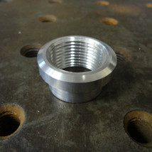 "Stepped Flanged ""Tophat"" 3/4"" NPT 6061 Aluminum Bung - Fabrication Harley Chopper Bobber Cafe Racer"