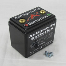 Antigravity Batteries - Lightweight Lithium Ion 6 Volt Motorcycle Battery - Small Case 6 Volt 12 Cell AG1202 - 240 CCA - MADE IN THE USA - Chopper Bobber Cafe Racer Harley