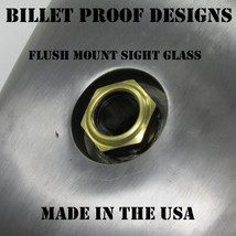 "Chopper FLUSH MOUNT Sight Glass Style External Fuel Gauge - Steel Bung - ""Frenched"" Style Recessed Bung - Chopper Bobber Cafe Racer Harley"