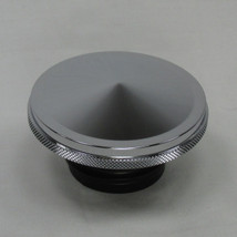 "Billet Chrome ""Drop Point"" Vented Motorcycle Gas Tank Cap - Fits 1982 and later Harley Models - Chopper Bobber Cafe Racer"