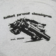 "Billet Proof Designs - ""Layin' it Low"" Vintage T-Shirt - Broken in Soft Polyblend 50/25/25 - Heather White - Medium Large XL XXL"