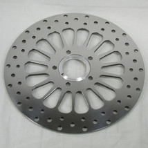 "11.5"" Drilled Front Disc Brake Rotor for 1984 - 2007 Harley Big Twin and Sportster - POLISHED - Replaces Harley Davidson Pt# 44136-92 44156-00 - Chopper Bobber Cafe Racer"