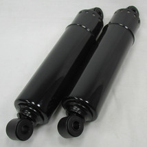 "OE Style 12"" BLACK Full Cover Rear Shocks  for 1973 - 1986 Harley Big Twins - Stock Ride Height - Replaces Harley PT# 54509-73A - 12"" Eye to Eye Mounts - Motorcycle Chopper Bobber Cafe Racer"