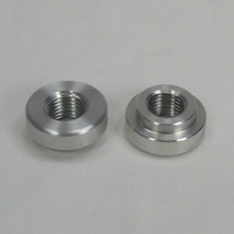"Stepped Flanged ""Tophat"" 1/4"" NPT 6061 ALUMINUM Bung - Perfect for Oil Bags and Petcocks - Fabrication Harley Chopper Bobber Cafe Racer Motorcycle"