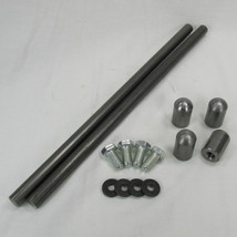 "TC Bros - Custom ""DIY"" Universal Rear Motorcycle Fender Strut Kit - Steel with Bungs and Hardware - Chopper Bobber Harley Sportster Dyna Ironhead EVO"