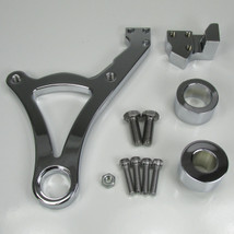 """Chrome Ultima REAR Brake Caliper Mount for 2000-Later Harley Softail Models (Fits 3/4"""" and 1"""" Rear Axles) - Also Available with a 4-Piston Caliper - Chopper Bobber Cafe Racer"""