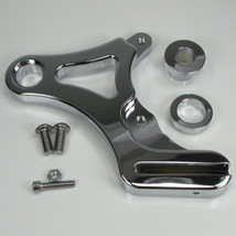 "Chrome Ultima REAR Brake Caliper Mount for 1987-1999 Harley Softail Models (Fits 3/4"" and 1"" Rear Axles) - Also Available with a 4-Piston Caliper - Chopper Bobber Cafe Racer"