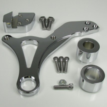 Chrome Ultima REAR Brake Caliper Mount for 2000-Later Harley Dyna Models - Also Available with a 4-Piston Caliper - Chopper Bobber Cafe Racer
