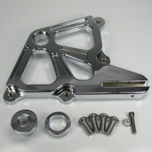 """Chrome Ultima DUAL REAR Brake Caliper Mount for 1987-1999 Harley FXST and Custom Builds (Fits 3/4"""" and 1"""" Rear Axles) - Also Available with 4-Piston Calipers - Chopper Bobber Cafe Racer"""