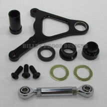 """Billet Aluminum LEFT or RIGHT FRONT Brake Caliper Mount for 1984 - 1999 SPRINGER Models with 11.5"""" disc brakes - 3/4"""" or 1"""" Axles - Anodized Black - DNA Specialties Performance Machine Willwood Harley Chopper Bobber"""