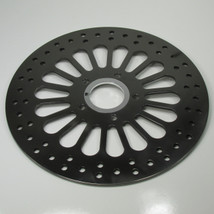 "BLACK 11.5"" Drilled Front Disc Brake Rotor for 1984 - 2007 Harley Big Twin and Sportster - Replaces Harley Davidson Pt# 44136-92 44156-00 - Chopper Bobber Cafe Racer"