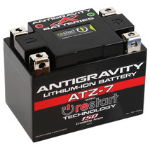 Antigravity ATZ-7-RS Lithium Ion Battery with BMS and Re-Start Technology - 150cca 1.32 Pounds 7Ah Lightweight Motorcycle Battery - Replaces YTZ5S - YTZ7S - YTZ8V - YTX4L-BS - YTX5L-BS - YTX7L-BS - MADE IN THE USA with a 3 Year Warranty