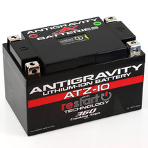 Antigravity ATZ-10-RS Lithium Ion Battery with BMS and Re-Start Technology - 360cca 2.3 Pounds 10Ah Lightweight Motorcycle Battery - Replaces YTZ10S - YTZ12 - YTZ14 - YTX9 - YTX7A-BS - YT12A-BS - MADE IN THE USA with a 3 Year Warranty