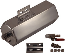 3x8 Polished Aluminum Coolant Expansion Tank/Overflow Bottle