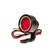 """PRISM BLACK Billet Aluminum """"Speedster"""" LED Motorcycle Tail Brake Stop Light with Mounting Bracket - Bobber Chopper Cafe Racer Harley Brat"""