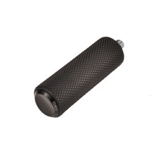 Arlen Ness Fusion Shifter / Brake Peg - Black Knurled - CNC Billet Aluminum with Knurled Rubber - For use with MOST models that accept a 5/16-24 Stud - Bobber Chopper Cafe Racer