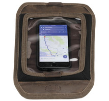 Burly Brand Voyager Magnetic Map Tank Pad Screen Cell Phone / GPS Holder in Brown - Aged/Distressed Waxed Cotton Canvas - MADE IN THE USA