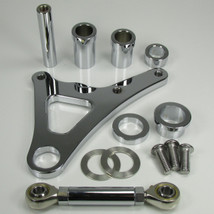 """POLISHED Ultima FRONT Brake Caliper Mount for Springer Front Ends LEFT OR RIGHT Side with a 3/4"""" or 1"""" Axle (Fits Paughco, DNA and other Springers) - Also Available with a 4-Piston Caliper - Harley Chopper Bobber Cafe Racer"""