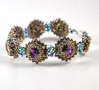 Snow Crystals Bracelet Beading Pattern