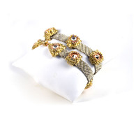 Sphynx Wrap Bracelet Silver & Gold Beading Kit