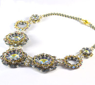 Carlotta Necklace Beading Kit Blue/Gold