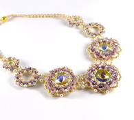 Carlotta Necklace Beading Kit Purple/Gold