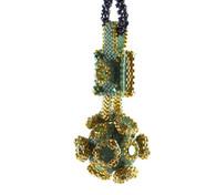 Manx Pendant Beading Kit Turquoise & Gold