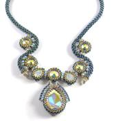 Nine Lives Necklace Beading Kit Blue & Crystal AB