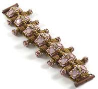 Cheetah Bracelet Beading Kit Pink & Bronze