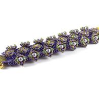 Katnip Bracelet Beading Kit Purple & Green