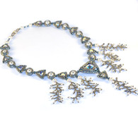 Savannah Necklace Beading Kit *Blue & Silver