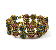 Mirage Bracelet *Bronze & Fuschia & Blue