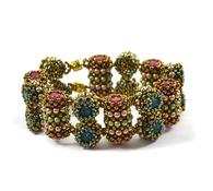 Mirage Bracelet *Bronze & Fuschia & Blue