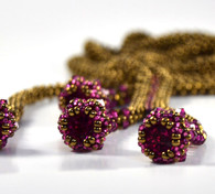 Bellatrix Necklace Bronze & Fuschia  Beading Kit