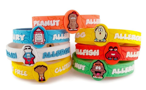 Allermates Wristbands Allergy Bracelets For Toddlers