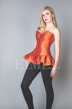 Skirted Corset Steel Boned Orange SHANEECE