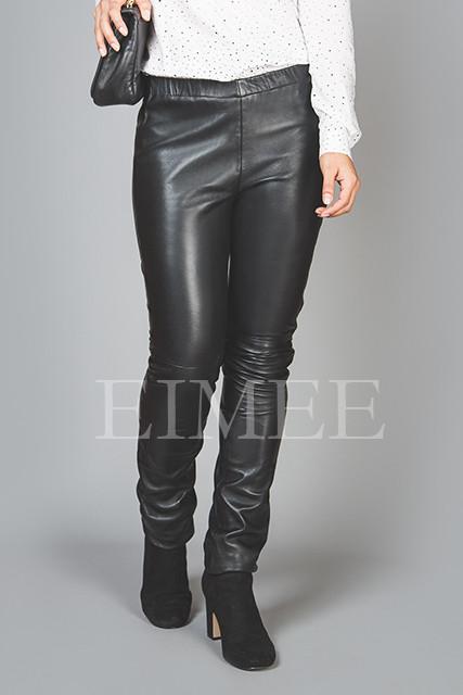Full Grain Skinny Leather Leggings Skinny Fit JAQUELIN front detail