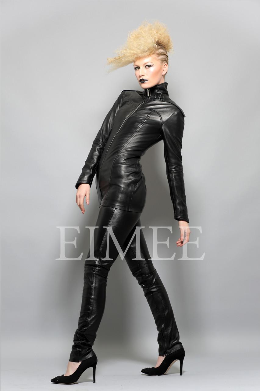 7bd47565a58 Lavish Black Leather Mini Dress Top Jacket SHIYI side